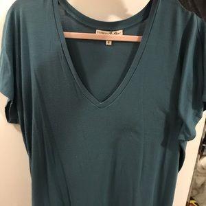 Turquoise V-Neck
